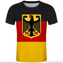 T shirt allemand gratuit, personnalisé, avec nom et numéro, deu, drapeau de nation allemande, vêtements de photo à imprimer