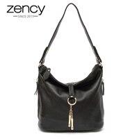 Fashion Gelance Metal Tassel First Layer Of Cowhide Genuine Leather Women S Handbag Laptop Messenger Bag