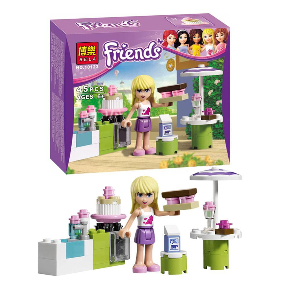 girls friends series stephanies outdoor bakery minifigures building block sets christmas gift toys compatible with lego 10123 in model building kits from