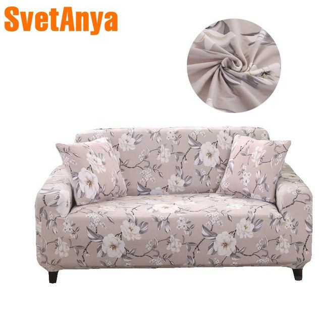 Fashion Floral Pastoral Stretch Elastic Chair Loveseat L Shape Sectional Sofa Cover Slip Cover Polyester  Parlour Living Room
