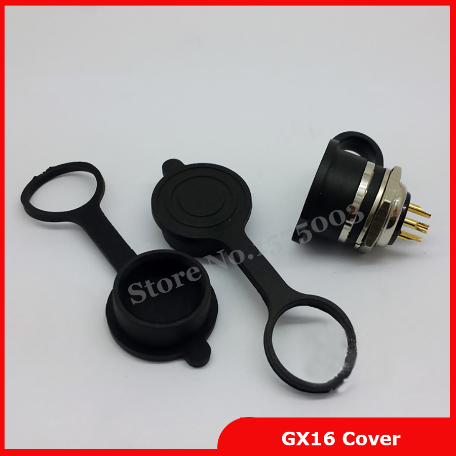 2 Pieces Waterproof Aviation Connector Plug Shell Cap Cover Protective Sleeve For For GX16 Aviation Plug