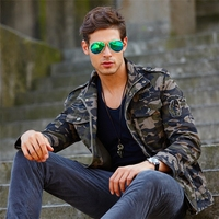 Militare Windbreaker Spring and Autumn Bomber Men Jacket Army Military 100% Cotton Plus Size 4XL Casual Clothing