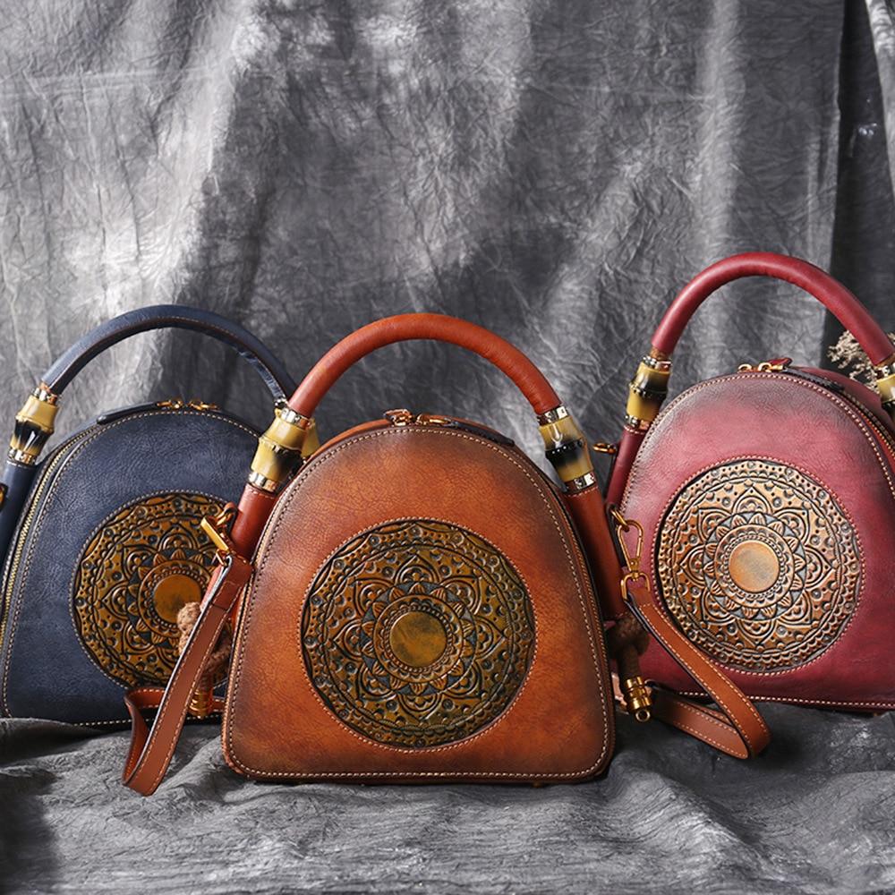 Cuir Messenger Style Vintage Design Main Unique 2019 Motif Vache Femmes Bandoulière De Marron À Chinois rouge Gaufrage Fleurs En gris Sac Sacs 8qxPdE8Fw