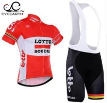 2016 New Team Lotto Breathable summer Cycling Jersey Set/Quick Dry pro Bicycle bicycle/Riding Clothing Clothes For Man(China)