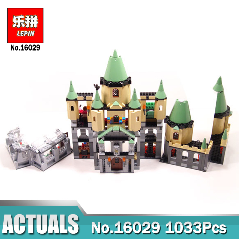 Lepin 16029 Movie Series The magic Hogwort Castle Model Building Blocks Bricks Toys for Children Gifts compatible Legoing 5378 in stock lepin 16029 1033pcs movie series the magic hogwort castle set children educational building blocks bricks toys model