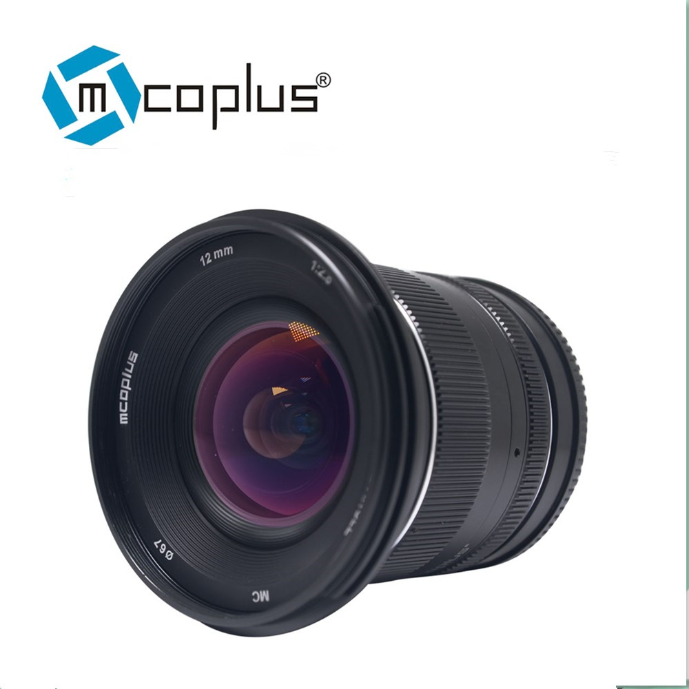 Mcoplus 12mm f2.8 Ultra Wide Angle Lens for Canon EF- M Fuji FX M43 E-mount APS-C Mirrorless Cameras A6500 A6300 XT2 Lens image