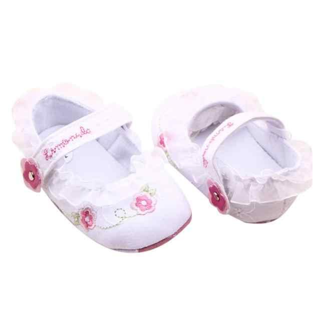 LONSANT kız bebek ayakkabıları 2018 yeni bebek yumuşak Sole beşik yürüteç ayakkabı yüksek kaliteli ilk yürüteç Dropshipping toptan