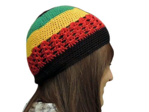 Online Shop 10pcs lot HOT Fashion Net Rasta Handmade Crochet KUFI ... b236063f9d2c