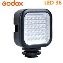 Светодиодный светильник Godox для фотосъемки 36, светодиодный светильник, лампа для цифровой камеры, видеокамеры, DV DSRL Mini DVR 5500 6500K CCT