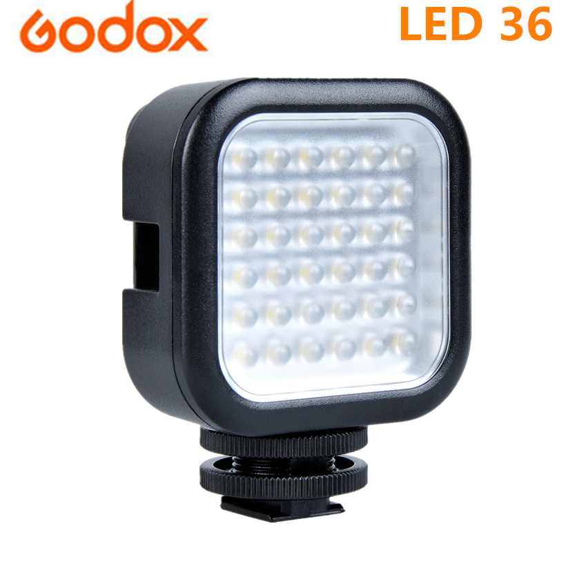 Godox LED-36 Photographic Lighting LED Light Lamp for Digital Camera Camcorder DV DSRL Mini DVR 5500-6500K CCT