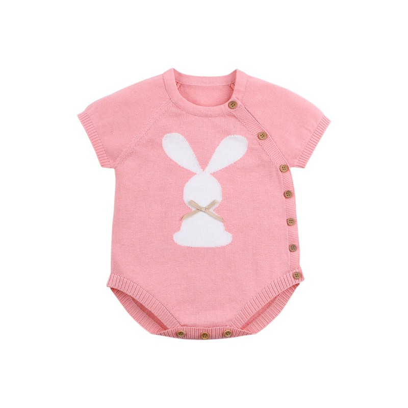 Spring Knit Newborn Baby Sunsuit Baby Kids Clothing Boy Girls Rompers Clothes Rabbit Infant Boys Jumpsuits