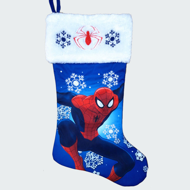 47cm185 plush large christmas stockings spiderman princess minnie mouse kid xmas stocking