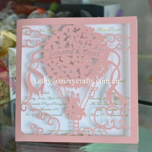 80 Teile Los Romantische Hochzeitskarten Design Rosa Laser