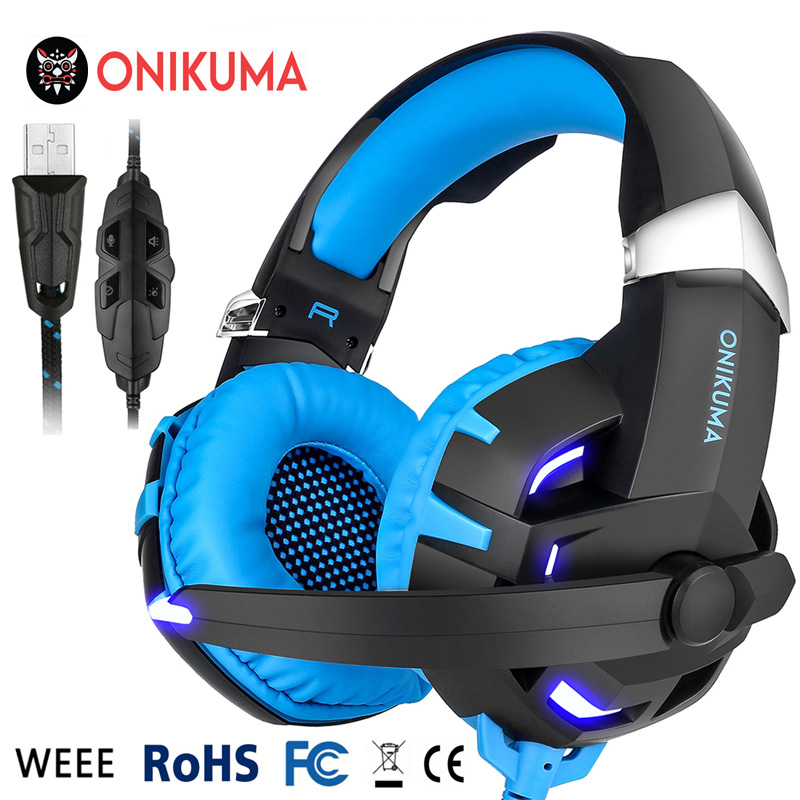 USB 7.1 Gaming Headset Over Ear Stereo Bass Headphone w/ Volume Control LED Light Microphone for PS4 Xbox One PC Mobile Phones g925 high quality gaming headset studio wire earphones computer stereo deep bass over ear headphone with microphone for pc gamer
