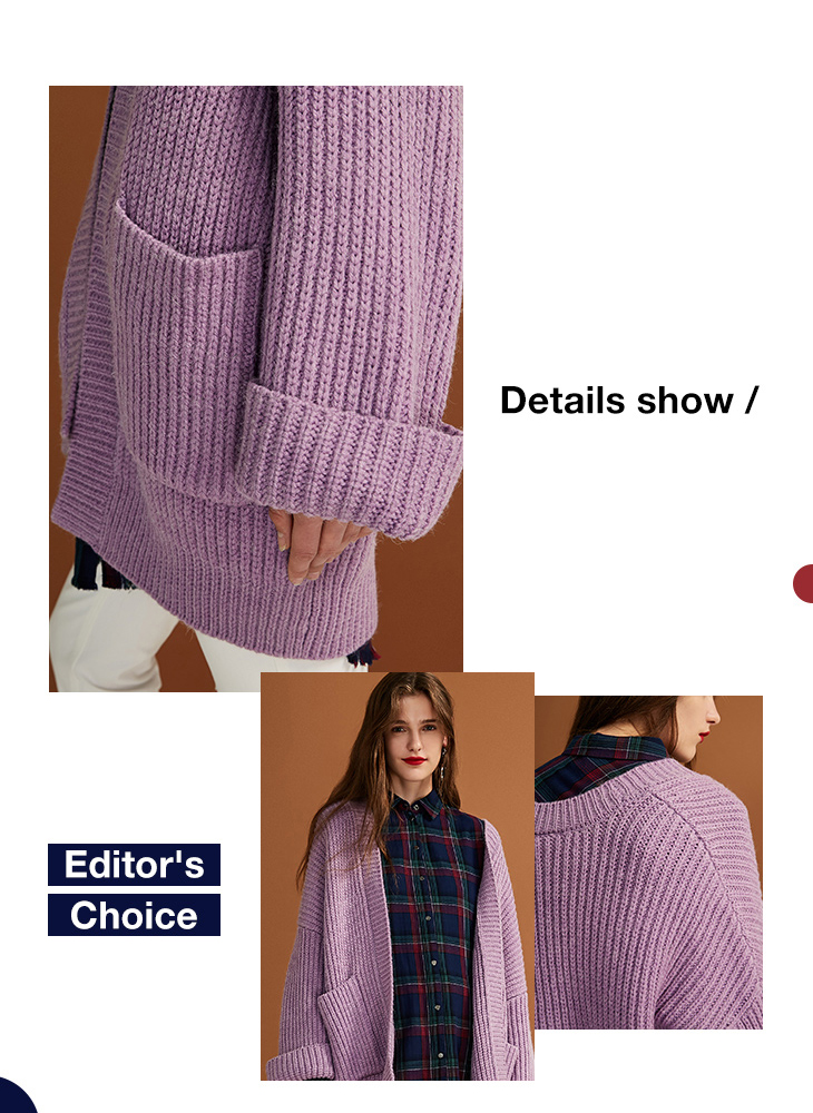 ONLY womens' autumn new cardigan long sweater sweater women Cuff design Cardigan design|11833B504 14