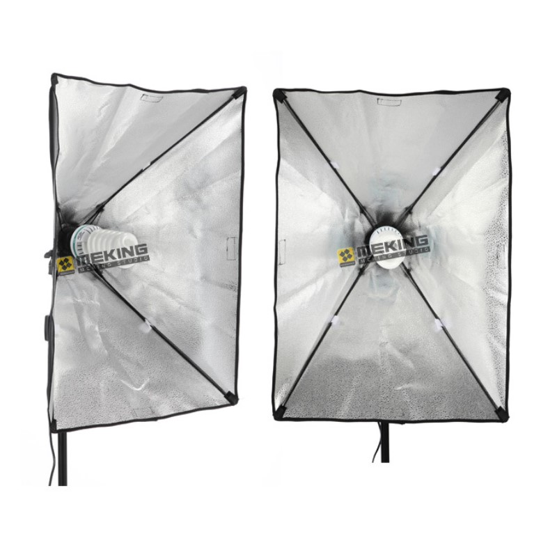 Meking Lighting Softbox 50*70cm/20*28 Soft Box with Light head adapter E27 bulb holder Diffuser