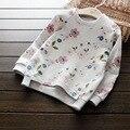 2017 весна осень дети футболки новорожденных девочек топы с длинным рукавом хлопок печатный рисунок дети тенниски малышей девушка блузка одежда