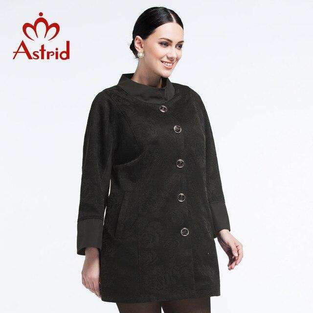 Астрид 2018 новая куртка женская в осень и весну плащ женский высокое качество мода плащ куртки женские осень Большой размер L XL XXL s-3xl 4XL 5XL бесплатно доставка в Украину AS-2082