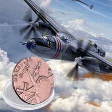US Air Bronze Force Coin Hercules C-130 Plane American Military Challenge Brass Plated Metal Coin Gift For Business Christmas