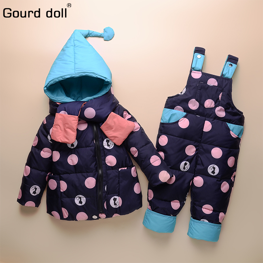 7b5f07a10b4b winter down jacket parka overalls for girls boys coats