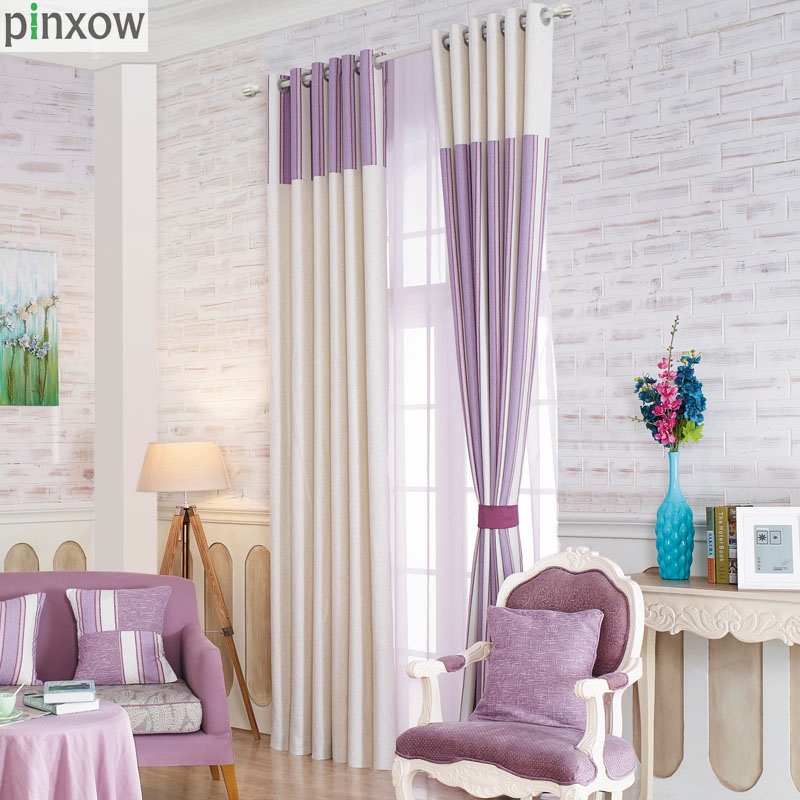 Luxury Home Accessories Home Decor: Luxury Scotland Curtains For Living Room Purple Thick