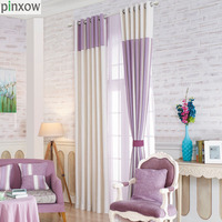 Luxury Scotland Curtains For Living Room Purple Thick Curtains For Bedroom Custom Made Home Decor Window Stripe Fabric Drape New