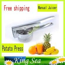 Fantastische Neue Edelstahl Kartoffelstampfer Ricer Püree Obst Gemüse Entsafter Brecher Presse Squeezer Maker Küche Werkzeug