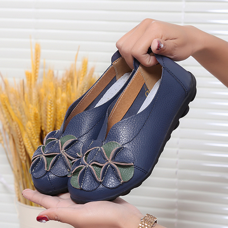Shoes Woman Flats Slip On Women Loafers Soft Moccasins With Genuine Leather Shoes Women Plus Size Flat Shoes Female Causal Shoes 4