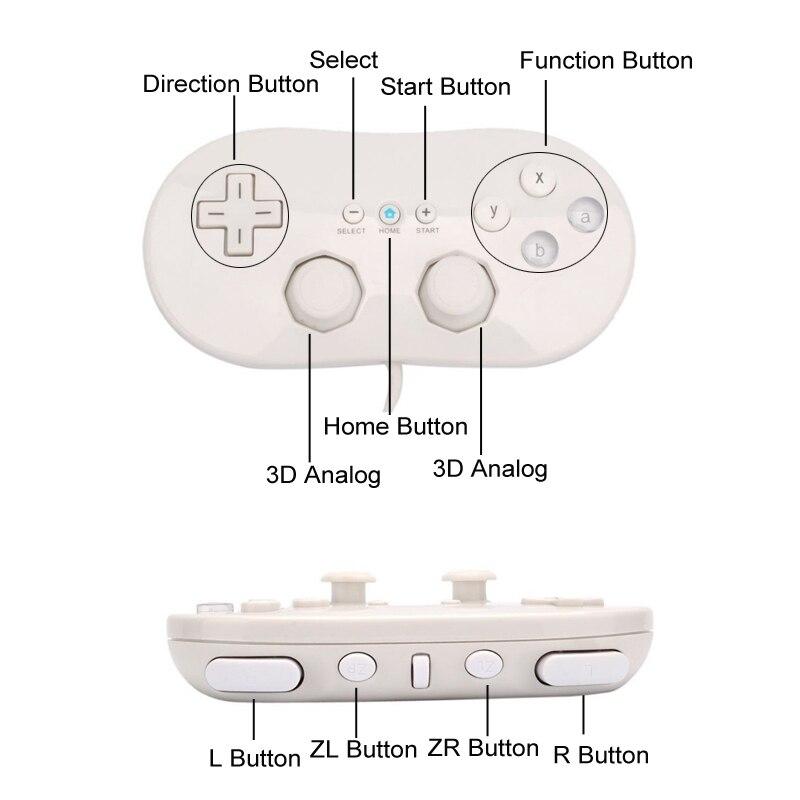 Joystick per gamepad con controller ABS classico per Nintendo Wii - Giochi e accessori - Fotografia 4