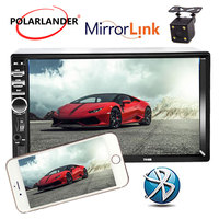7 Inch Bluetooth 2 Din Mirror Link For Android 7.0 Rear Camera Radio Cassette Player LCD Touch Screen Car Audio FM Automagnitol