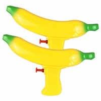Huang Neeky #501 Novo brinquedo engraçado 2 PC Crianças Brinquedos Da Água Da Praia do Verão Ao Ar Livre Forma de Banana Jogando Brinquedo Da Água amarelo Frete grátis