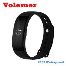 Горячие V66 SmartBand Часы Heart Rate Мониторы браслет Беспроводной IP67 Водонепроницаемый Фитнес трекер Браслет для Android IOS PK ID107