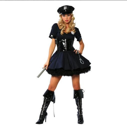 halloween costume for women female cop costume women police costume lady cop fancy dress plus Free Baton-in Babydolls u0026 Chemises from Novelty u0026 Special Use ...  sc 1 st  AliExpress.com : police costume for women  - Germanpascual.Com