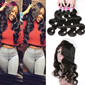 Top 360 Lace Frontal Closure With Bundle Human Hair 7A Brazilian Body Wave 360 Frontal With Bundles 360 Lace Frontal With Bundle
