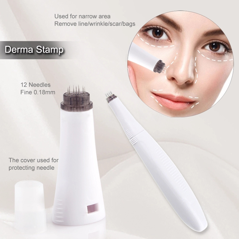 Hot! CE ISO Approved 6in1 Derma Roller For Narrow Area Eye Face Body Skin Beauty Dermaroller With 4 Titanium Needle Heads