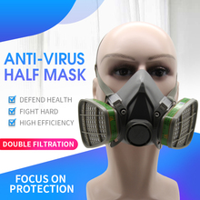 Silicone Gas Mask Half-faced Head-mounted Adjustable Mask Chemical Anti-virus Industrial Metallurgical Coating Protection virus чехол для скейтборда virus 1000 черный one size
