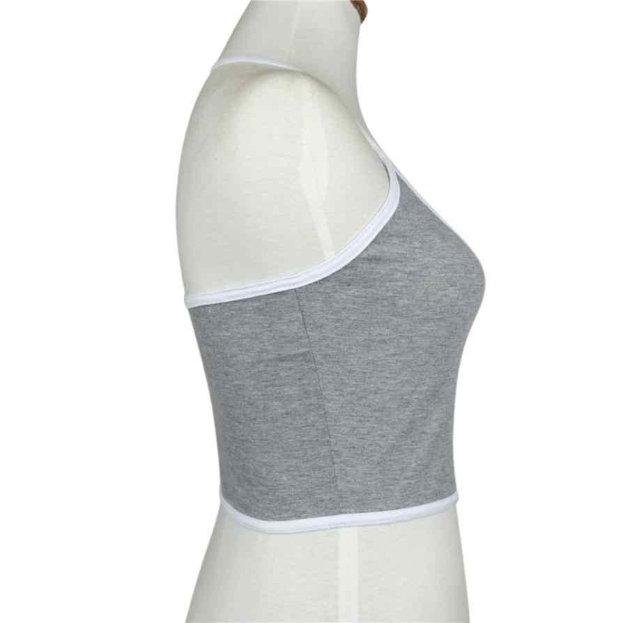 Fashion Women Boho Tank Tops Lady Cotton Blend Vest Shirts Girls Slim Fit Vest Crop Top Women's Casual Summer Short Shirt #YL