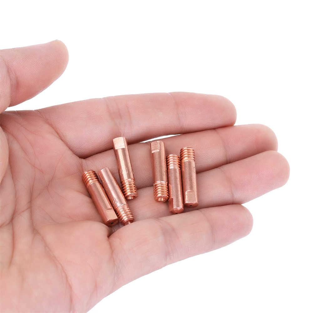 10Pcs 0.8/1.0mm Welding Torch Contact Tip Gas Nozzle MB-15AK M6*25mm MIG/MAG Hot Air Gun Nozzle Soldering Tool