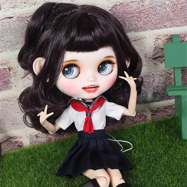 Kimora - Premium Custom Blythe Puppe mit Kleidung lächelndes Gesicht