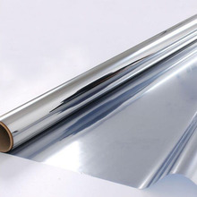 Length 200cm Silver Insulation Window Film Stickers Solar Reflective One Way Mirror color for Home and office decor