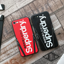 High Quality Soft silicone Matte Case for iPhone 6 plus 6plus 6S 7 7Plus 8 X Fashion Tide brand superdry Couple suit phone Cover