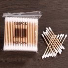 10packs Cotton Swabs Double Tip wooden Stick Cotton Swabs/Cotton Buds/Ear Buds Qtips T20