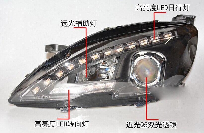 2014~2016 Peugeo 408 headlight,408,Fit for LHD and RHD,Free ship! 408 fog light,2ps/set+2pcs Ballast; Peugeo408