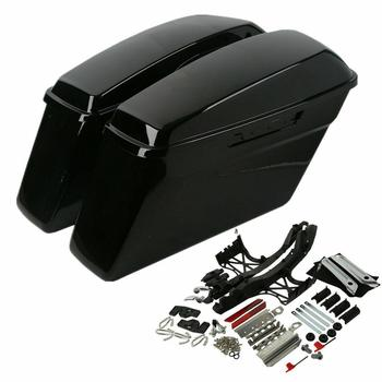 Motorcycle Hard Saddlebag Touch Latch Cover Key For Harley Touring Road King Road Glide Electra Glide 2014-2020