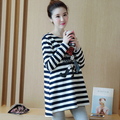 New Autumn Stripe Cartoon Maternity Tops T-shirts Pregnancy Top T Shirt Casual Maternity Tee Shirts Funny Pregnant Clothes B242