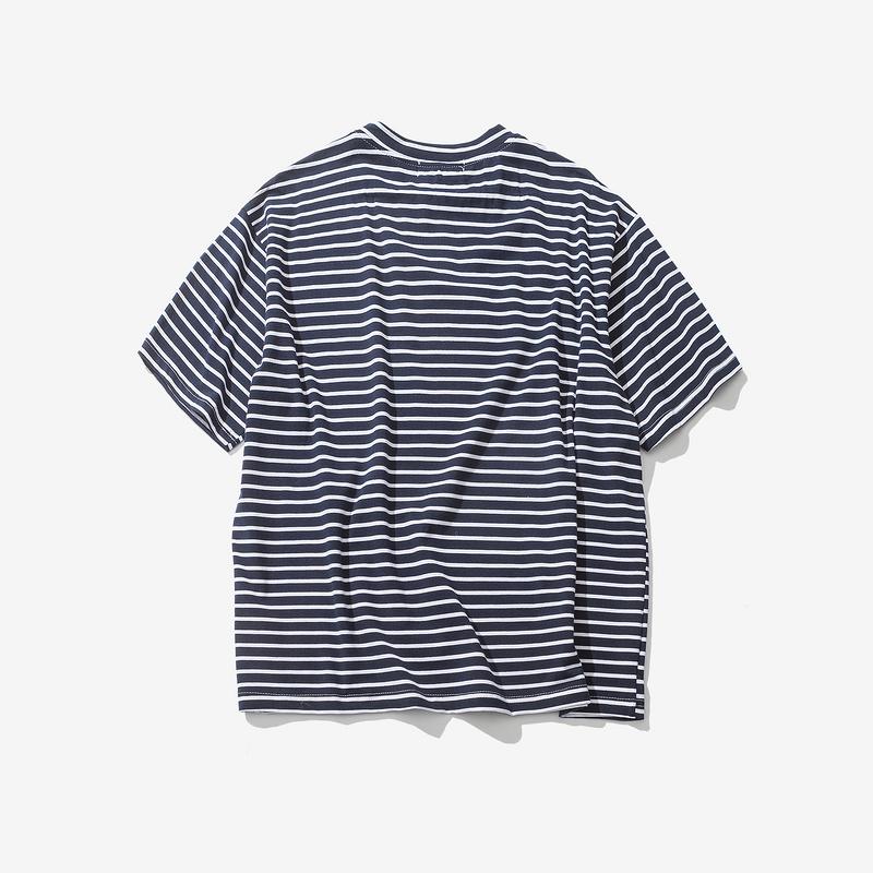 Dark Icon Rose Embroidery Striped Mens T-shirt Short Sleeve 19 Summer Hi-street Oversized Hip Hop Tshirt Cotton Tee Shirts 14