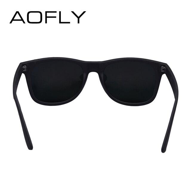 AOFLY Fashion Sunglasses Men Polarized Sunglasses Men Driving Mirrors Coating Points Black Frame Eyewear Male Sun Glasses UV400 4
