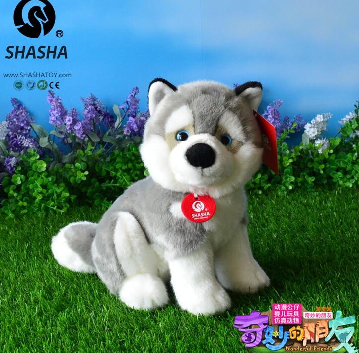 Husky poupée peluche jouet Simulation jouets en peluche pour enfants garçon cadeau de haute qualité