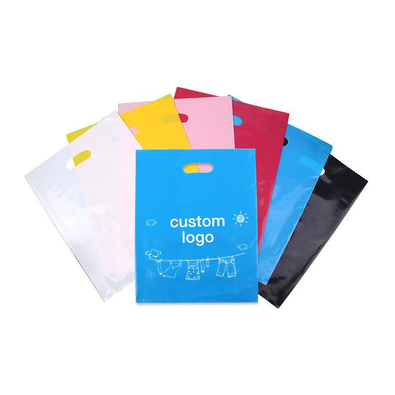 45*55 cm En Plastique Imprimé Sac Cadeau Faveur Boutique de Bijoux Cadeau Emballage Sacs À Provisions En Plastique Avec Poignée