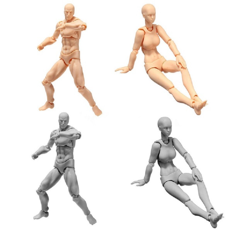 Sketch Body Kun/Body Chan DX Set Movable Male\Female Anime Archetype He She Ferrite Figma Movable Action Figure Miniatures model(China)